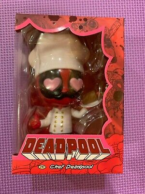 Marvel Cosbaby Deadpool2 chef version Bobble Head Doll PVC Figure