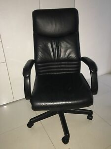 Full Leather Executive Office Study Chair Student Sunnybank Brisbane South West Preview