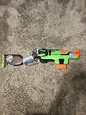 Nerf Zombie Strike SlingFire Blaster , Barely Used Comes With 25 Darts