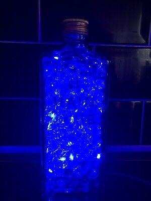 Up Cycled LED White Disaronno bottle light camping light table light Lamp