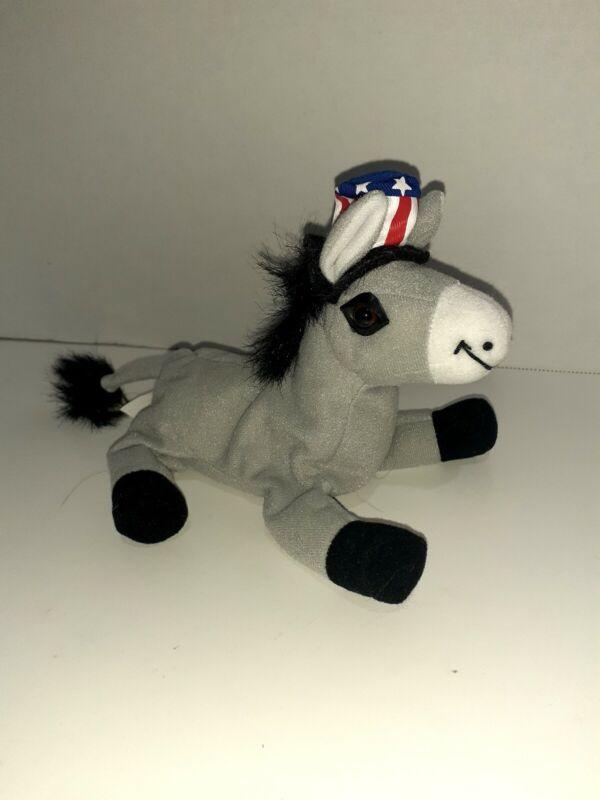 Max Hobbs Vintage 1999 Donkey Political Democrat 10 Inch Plush Stuffed Animal...