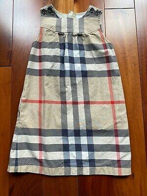Burberry Children Girl's Sleeveless Nova Check Plaid Dress Sz 8Y Mint Condition