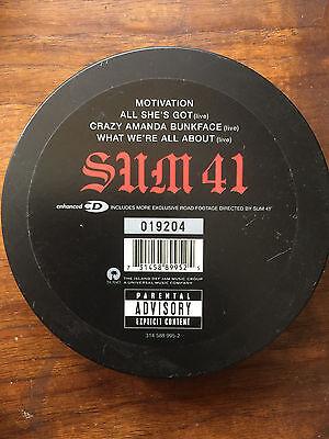 Sum 41 Motivation cd single from All Killer No Filler SPECIAL EDITION 2002 tin