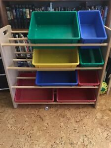Bins with shelves