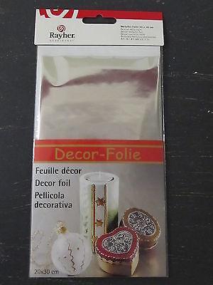 Rayher Metallic-Folie, Spiegelfolie silber 20 x 30 cm