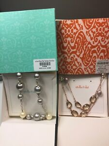 Beautiful Beaded necklaces!  Stella&Dot, silver and rose gold