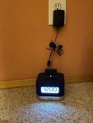 iHome IPL10 FM Radio Alarm Clock Speaker w/ Lightning Dock for iPhone