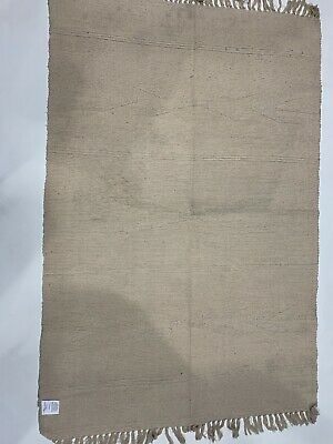 Comber Rugs 100% Cotton ReversibMulti Colours Cream/ Beige 120 X180 Indian Made