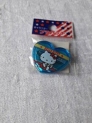 Hello Kitty Blue Heart Badge Japanese Import