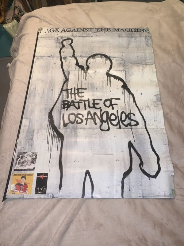 RAGE AGAINST THE MACHINE Rare 1999 DOUBLE SIDED PROMO POSTER 24x36 Battle of LA
