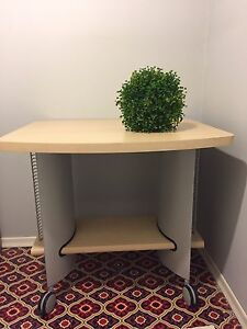 Table with CD storage on sides