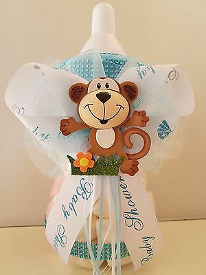Monkey Baby Shower Centerpieces (Baby Shower Monkey Centerpiece Bottle Large 12