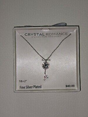 Swarovski Crystal Necklace from Crystal Romance - Silver Plated - Key Pendant