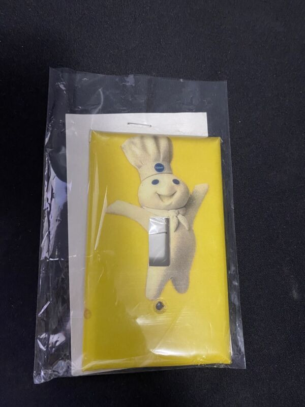 Vintage Pillsbury Doughboy Yellow Light Switch Cover Plate