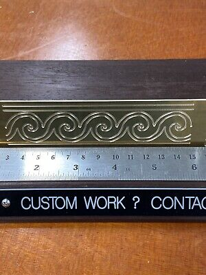 Waves Master Template 1.5 X 7 Solid Brass Engraving Plate For New Hermes Font
