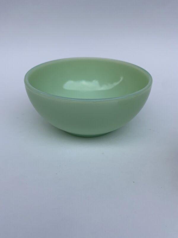 """(1) Fenton Jadeite 5"""" Soup/Cereal Bowl By Martha Stewart Green"""