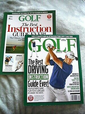 Lot of 2 Golf Magazine Book Aids_THE BEST DRIVING INSTRUCTION / BEST