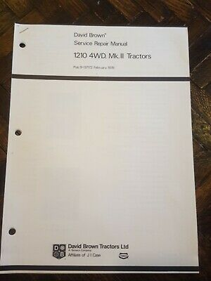 David Brown 1210 4wd Mk Ii Service Manual Original