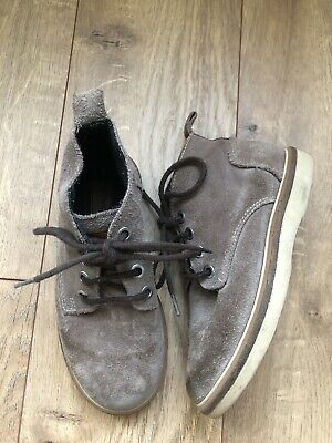 Zara Kids Boys Grey Leather Suede High Top Fashion Shoes Size 29 11.5 $59