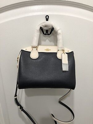 e7d247d20448  NWT  Coach Mini Bennett Satchel Colorblock Crossbody Bag F26153 Midnight  Chalk
