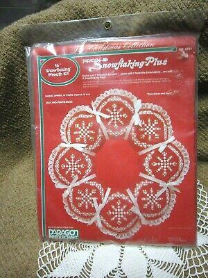 Paragon Needlecraft Wreath Kit, SNOWFLAKING  (CHICKEN SCRATCH) Embroidery Wreath