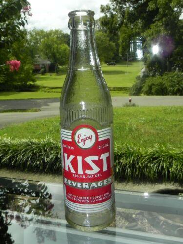 Kist Soda Beverage Bottle 10 oz 1952 Fresno Calif California