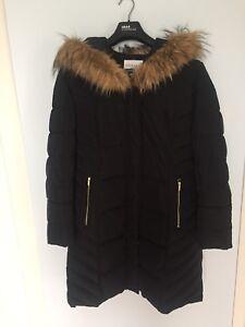 Long winter jacket with hood -size large (west island)