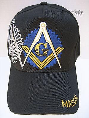 Masonic Hat Cap Black New Freemason Masonic Lodge   Free Shipping