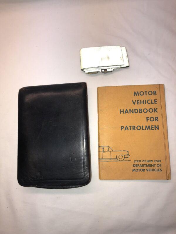 1967 Leather Police Ticket Citation Book NYPD New York Handbook Patrolmen Belt