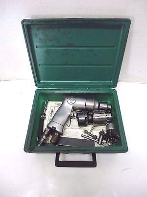Chicago Pneumatic 778d Air Drill Also 33b  1b Jacobs Chucks Plus Plastic Case