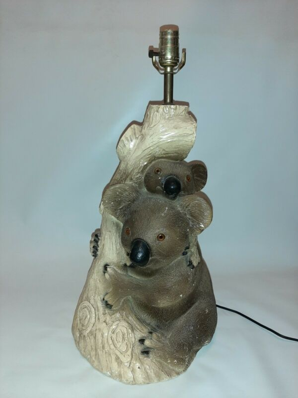 Vintage KOALA MUM & BABY JOEY - Lamp Light Decor Figure
