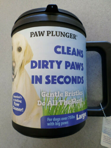 "NEW ""Paw Plunger"" for Dogs - Portable Dirty Paw Washer for Dogs - Large Size"