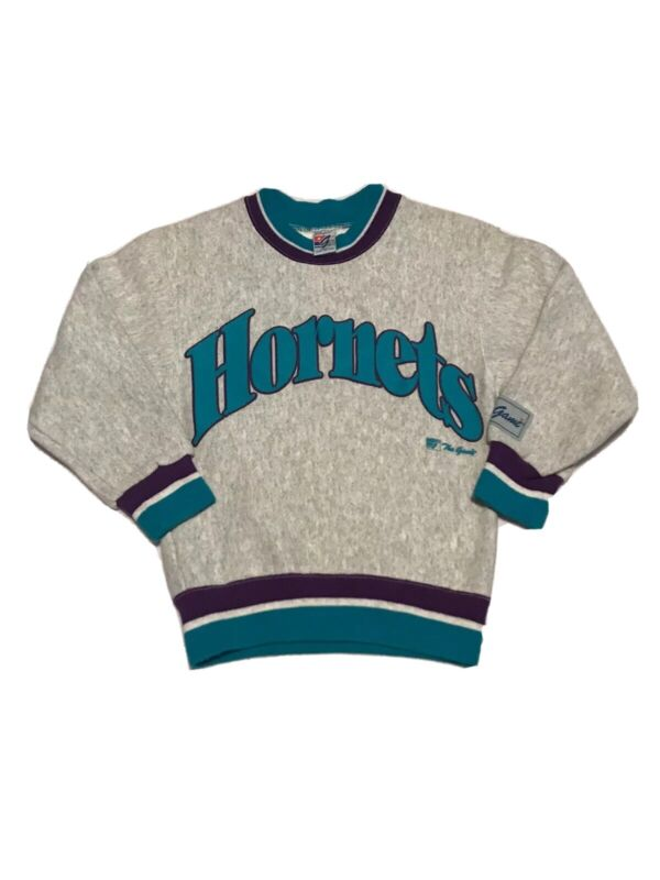 Rare Vintage Youth Small The Game Charlotte Hornets Crewneck Lot Size Small