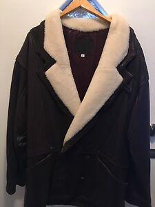 Man's leather car coat