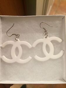 Dior or LV or CC inspired earrings studs London Ontario image 6