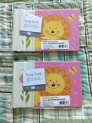 (Lot of 2) Baby Photo Album 4 x 6 Brag Book  Jungle Friends / Girl Baby Shower