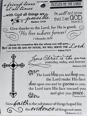 Friend Loves God Bless Faith Religious Bible Verse Phrase Scrapbook Stickers](Scripture Stickers)