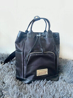 NEW! Versace Parfums Backpack Black/Gold Drawstring/Handles Bag *100% AUTHENTIC