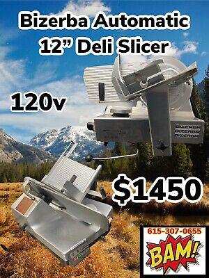 Bizerba Se12d Automatic Commercial Deli Meat Slicer-120v-working