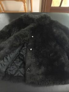 Beautiful black Faux Fur coats  -Twins