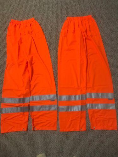 2 total CONDOR 1YAV6 SAFETY PANTS 3m SCOTCHLITE ORANGE (size men