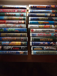 Lot of VHS movies. 24/$15 mostly Disney