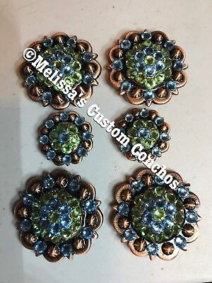 Western Saddle Set Of Conchos With Screws Bling ()