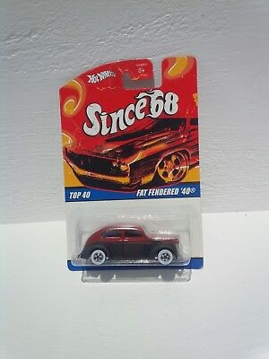 Hot wheels fat fendered 40 since 68 new diecast toy red flat black brand 1982