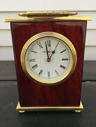Howard Miller 613-528 Rosewood Bracket Table Clock