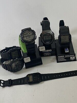 Lot of 6 Casio Brand Watches All Have Working Batteries