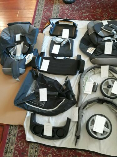 OEM PARTS: GRACO READY2GROW LX STROLLER - GLACIER - Wheel, Tray, Stand Plate