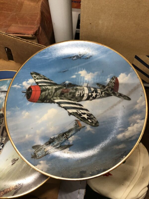 HAMILTON PLATE COLLECTION  GREAT FIGHTER PLANES OF WWII P-47 Thunderbolt plate