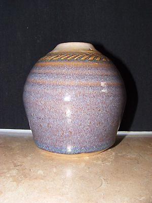 Beautiful Handmade Studio Potter Vase signed BS