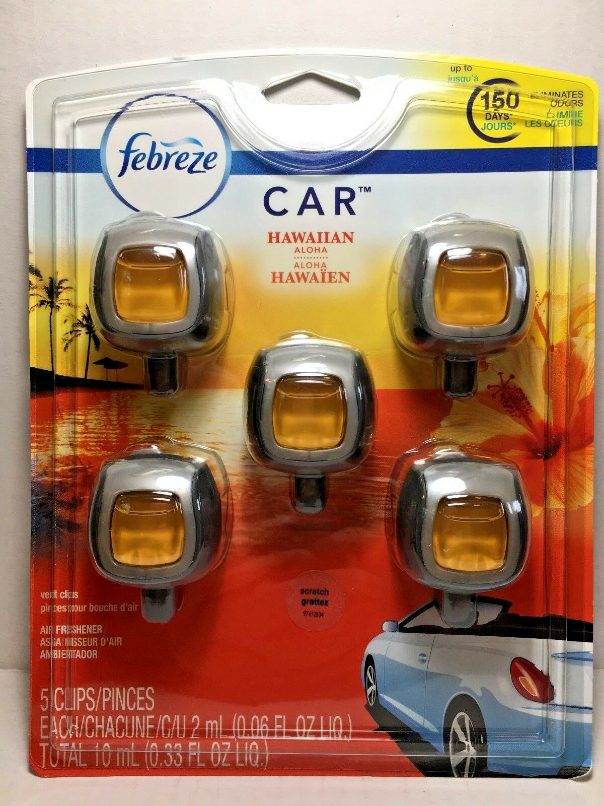 FEBREZE Car Vent Clips 2 ml Air Freshener Hawaiian Aloha - 1